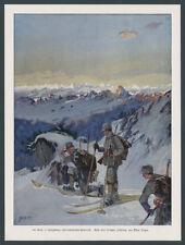Albert Singer dt. Alpenkorps Ski-Patrouille Winter Dolomitenfront Südtirol 1915