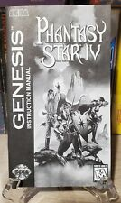 Phantasy Star IV (Sega Genesis) instruction manual, official genuine & authentic