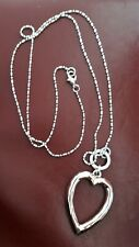 Long Silver Plated Necklace with Rose Gold Heart from Sarah Tempest