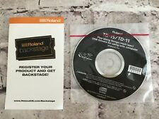 Roland V Drums TD-15 TD-11 Play Along Songs mp3/wav USB Drivers CD Rom Only 2012
