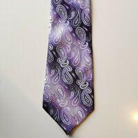 Kailong 100% Silk Pink Purple Paisley Tie Men's Wear Vintage