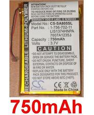 Batería 750mAh Para SONY NWZ-A818 NWZ-A818BLK NWZ-A828KBLK NWZ-A829BLK