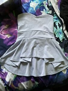 Pink Boutique Baby Blue Strapless Top Size 10