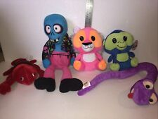 Lot of 5 New Generic Plush Stuffed Toys Lobster Zombie Tiger Monkey Snake