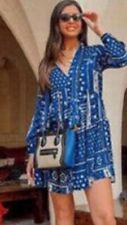 Zara Short Patchwork Dress Size Small BNWT