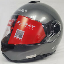 LS2 Strobe Flip-Up Modular Motorcycle Helmet Solid Gunmetal Silver Medium NEW