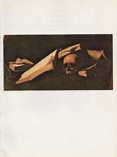 "1973 Vintage ZURBARAN ""(DETAIL) SAINT JEROME"" WILD SKULL COLOR Offset Lithograph"