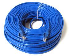 100 ft feet CAT5 e RJ45 Ethernet Network Lan patch Cable CAT5E jumper 100ft Blue