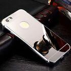 COVER BUMPER in ALLUMINIO RIGIDA CON RETRO A SPECCHIO per Iphone 6 6s 7 8 / Plus