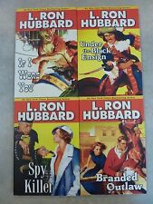 Lot 4 L Ron Hubbard Adventure Series Set Spy Killer If I Were You Branded Outlaw