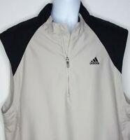 Adidas Climashell Windbreaker Golf Pullover 1/4 Zip Vest Mens Size 2XL