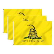 New listing 3 Pack - 3x5 Ft Gadsden Dont Tread On Me Culpepper Rattlesnake Tea Party Flag yb