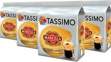 4 x Packs Tassimo Marcilla Cafe Largo Breakfast Coffee T Discs Pods - 64 Drinks