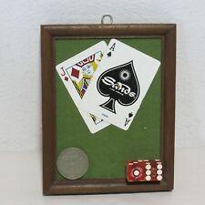 SANDS LAS VEGAS ONE OF A KIND CARDS DICE CHIP WINNER PLAQUE