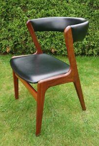 Kai Kristiansen Teak Stuhl Skai Leder Danish Mid Century Design 60er Vintage 60s