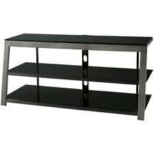 """Ashley Furniture Rollynx 48"""""""" Metal Tv Stand in Black and Aged Silver"""