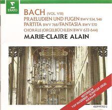 Bach - Organ Works, Vol. VIII / Marie-Claire Alain