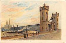Cöln, Feste Brücke mit Dom von Deutz gesehn, Germany c1907 Vintage Art Postcard