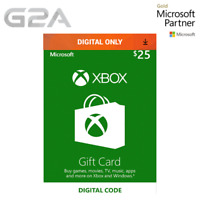 $25 XBOX Live 25 USD Gift Code - Microsoft Xbox One - Xbox 360 - 25 Dollars [US]