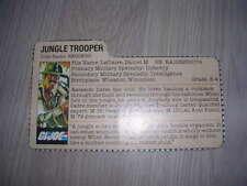 gi joe Recondo File Card 1984 USA!