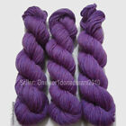 3 Skeins Lot NEW Hand Dyed 100% Wool Worsted weight Purple Yarn P01