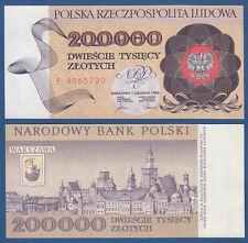 POLEN / POLAND 200.000 Zlotych 1989 UNC  P.155