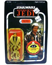 Vintage Kenner Star Wars ROTJ Han Solo Trench Coat Mint Unpunched 77-Back MOC