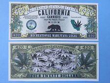 CALIFORNIA CANNABIS Prop 64 Legal MARIJUANA ~ $1,000,000 One Million Dollar Bill