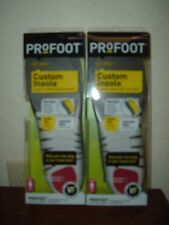 2 Pairs Womens Profoot Lightweight Flexible Shell Custom Insoles Size 6-10 #2008