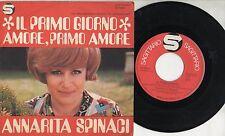 ANNARITA SPINACI disco 45 giri MADE IN ITALY Il primo giorno