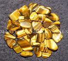 10 X doré TIGRES Eye Tumblestones 17mm - 22mm A Grade cristal pierre gemme