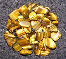 10 x Gold Tigers Eye Tumblestones 18mm - 22mm A Grade Crystal Gemstone Wholesale