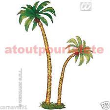Set de 2 palmiers,Iles,Bienvenue,Hawai,Décor,Carton,Accessoire,Déguisement,Fête