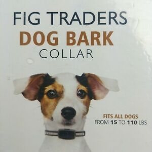 Fig Traders Dog Bark Collar Fits Dogs 15 to 110 lbs Rechargeable Rainproof LED