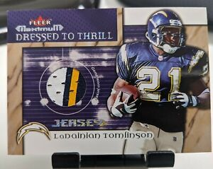 2002 Fleer Maximum LADAINIAN TOMLINSON Dressed to Thrill 3 color jersey HOF