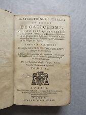 INSTRUCTIONS GÉNÉRALES en FORME de CATÉCHISME, TOME 2, 1710