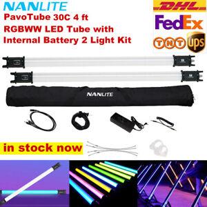 2Pcs Nanlite Pavotube 30C 4ft 117cm 2700-6500K RGBW LED Video Light APP Control