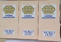 "Cleopatra, Deborah, Sapho, Doll lot 15"" World Crown Collection 71550 71551 71552"