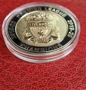 liverpool fc Prem League Champions 2019/20 Gold Coin/medal