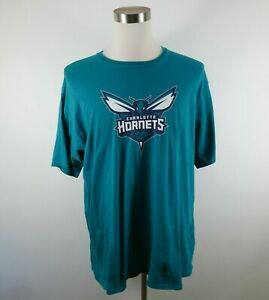 NBA Charlotte Hornets Macura Mens Cotton SS Crew Neck Teal T Shirt Fanatics 2XL