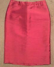 Womens BCBG MAXAZRIA Sexy Pencil Skirt Size 6 Pink Sheen