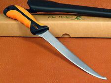 Elk Ridge 12.5 Fillet Knife Double Edge 440SS Fixed Blade Full Tang Sheath ER541