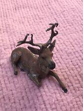Vintage Metal Deer Putz Painted Deer Display (R93)