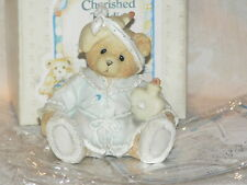 Cherished Teddies 1993 Kiss the Hurt Girl Bear Retired Exc Complete