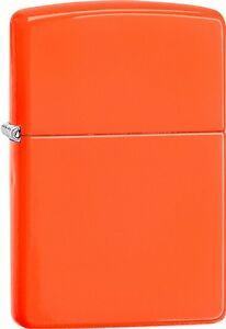 Zippo 2015 Catalog Brilliant Splash Classic Neon Orange Windproof Lighter 28888