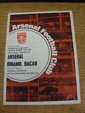 18/03/1970 Arsenal v Dinamo Bacau [Inter Cities Fairs Cup] (slight fold). Good c
