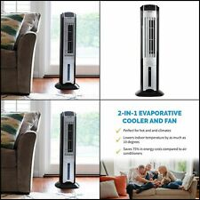Evaporative Air Cooler Portable Tower Fan with Remote 3 Speed (Swamp Cooler)