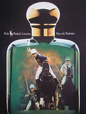 PUBLICITÉ DE PRESSE 1986 POLO RALPH LAUREN EAU DE TOILETTE - ADVERTISING
