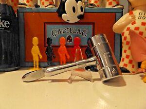 Vintage 1950s ~ Chase Art Deco MCM Chrome Bar Caddy Jigger Wine Bottle Opener