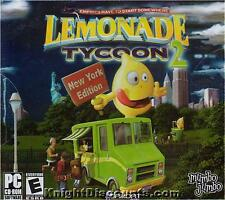 LEMONADE TYCOON 2 New York Edition PC Game NEW Box WinX